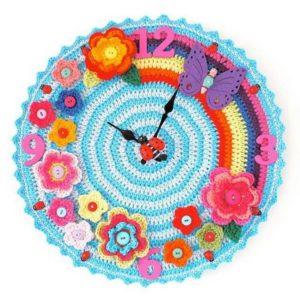 Cute Crochet Wall Clock