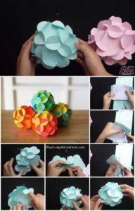 DIY Colorful Paper Flowers