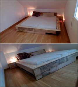 King Size Wood Pallet Bed