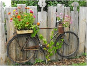 Old Bicycle Garden Art