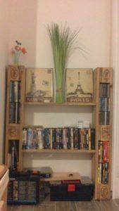 Pallet Pallet Book Shelf