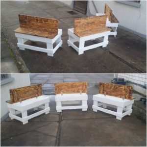 Pallet Tables with Storage