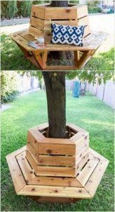 Round Bench Around Tree
