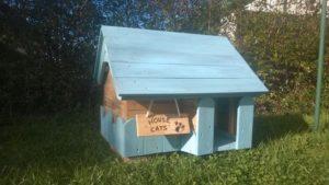 Wood Pallet Cat House