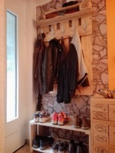 Wood Pallet Coat Rack or Shoe Rack