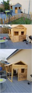 Wood Pallet House, Deck and Fence