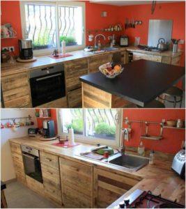 Wood Pallet Kitchen Project