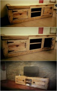 Wood Pallet Media Table or Cabinet