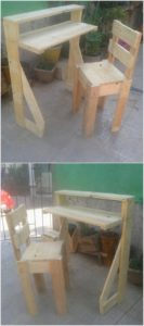 Wood Pallet Table and Chair