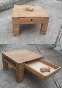 Wood Pallet Table with Drawer