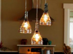 Make Wine Bottle Pendant Lights