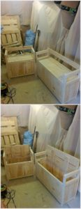 Pallet Couches with Storage