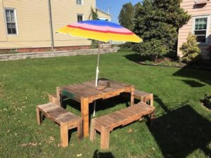 Pallet Garden Furniture Table and Benches