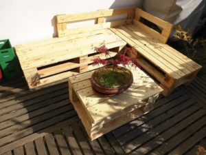 Pallet Outdoor Corner Couch and Table