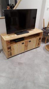 Pallet TV Stand Media Cabinet