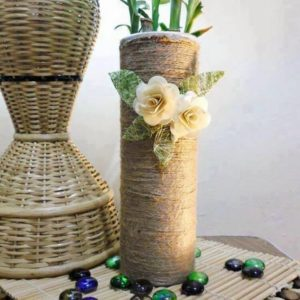 Recycled Pringle Tube Decoration Piece