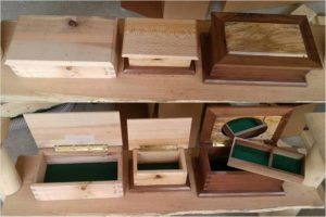 Recycled Wood Pallet Storage Boxes
