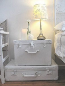 Reused Suitcase End Table