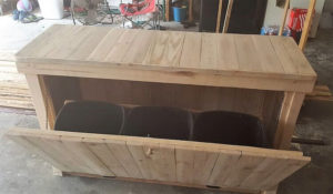 Wood Pallet Laundry Table and Basket Holder