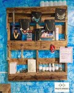 Pallet Wall Jewelry Rack