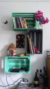 Pallet and Crate Bookshelves