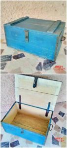 Wood Pallet Storage Box