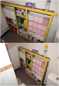 Pallet Bathroom Rack