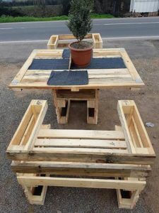 Pallet Outdoor Chairs and Table