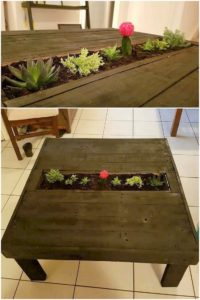 Pallet Table with Planter