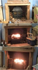 Wood Pallet Fireplace