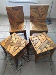 Pallet Chairs and Tables
