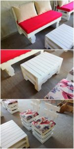 Pallet Couch, Table and Chairs