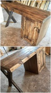 Pallet Office Table Desk