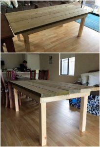 Recycled Wood Pallet Tablee