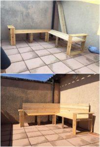 DIY Pallet Corner Couch