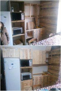 DIY Pallet Kitchen Cabinets