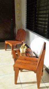 Pallet Chairs and Center Coffee Table