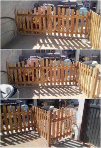 Pallet Garden Fence and Door