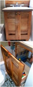 Pallet Sink with Drawer