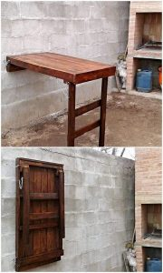 Pallet Wall Folding Table