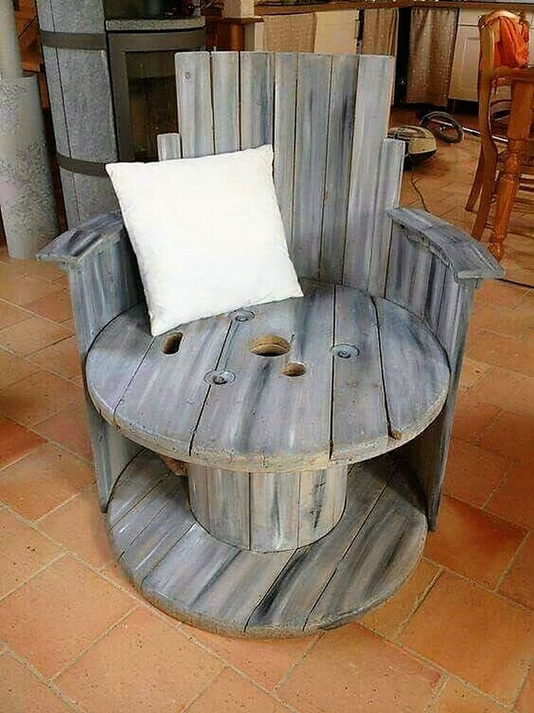 Pallet and Cable Reel Chair