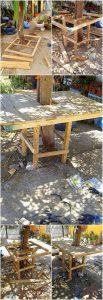DIY Pallet Tree Table