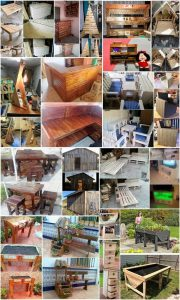 Functional and Smart Creations with Used Shipping Wood Pallets