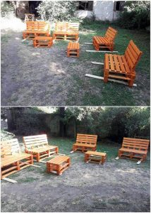 Pallet Garden Furniture Set