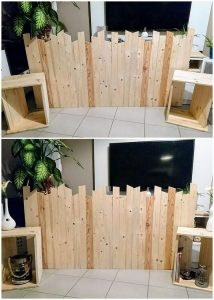 Pallet Headboard and Side Tables