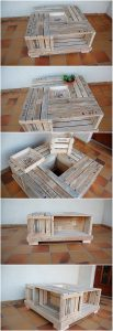 Pallet Lounge Table with Storage