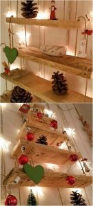 Pallet Shelving with Lights
