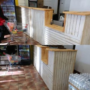 Pallet Shop Counter