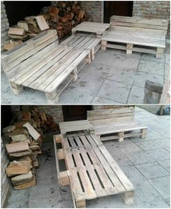 Recycled Pallet Benches and Center Table