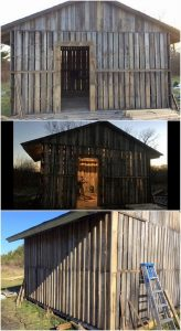 Recycled Pallet Garden Shed